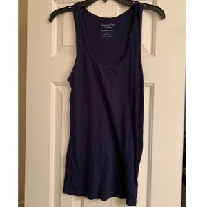 American Eagle Navy Boyfriend Tank Top Size Large